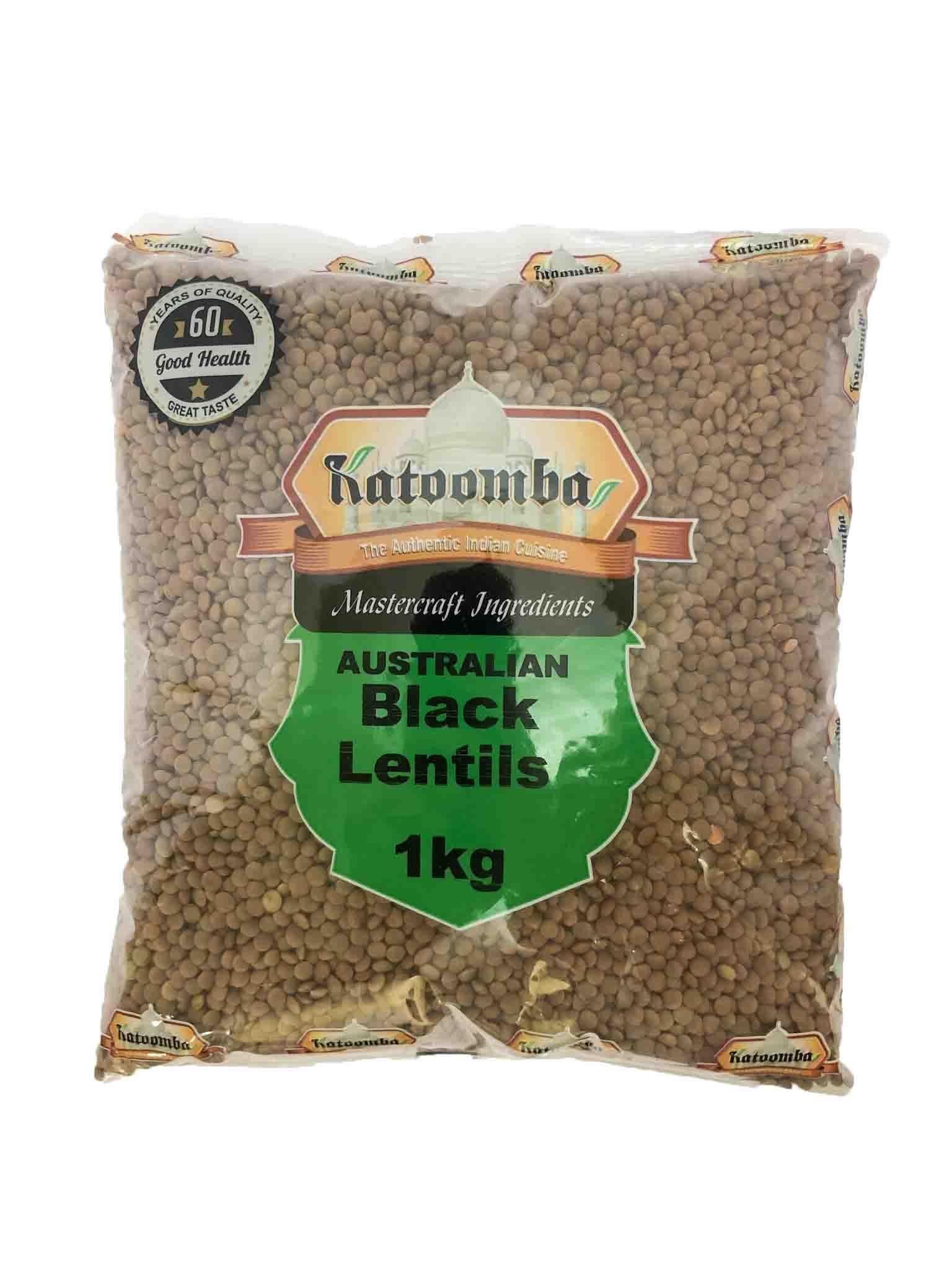 Black Lentils 1Kg By Katoomba Brand