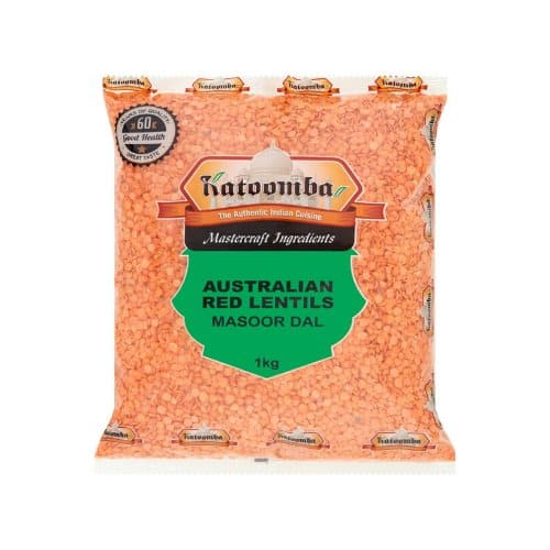 Red Lentils Split 2kg By Katoomba Brand