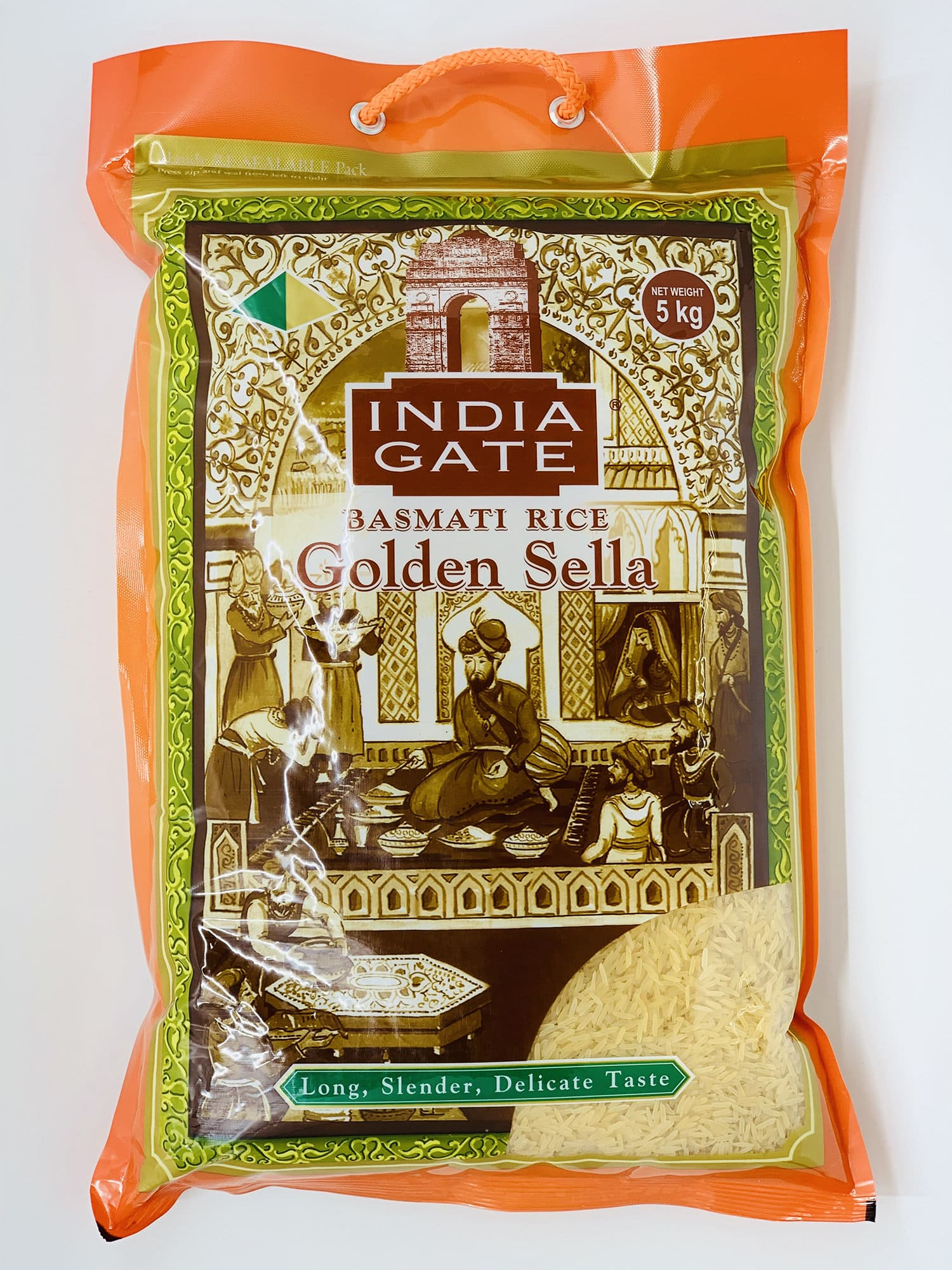 top quality golden sella rice 5 kg by india gate brand