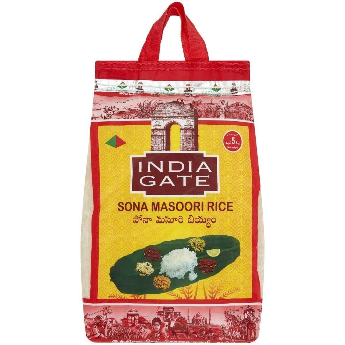 sona masoori rice 5kg by india gate brand