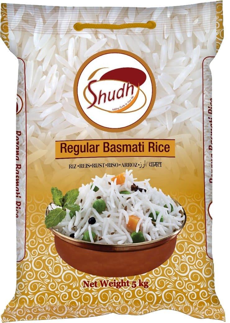 Regular Basmati Rice 5Kg by Shudh Brand