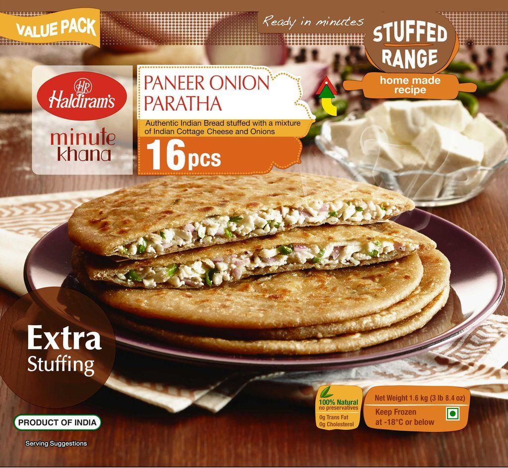 Buy Haldiram Paneer Onion Paratha 16 Pc
