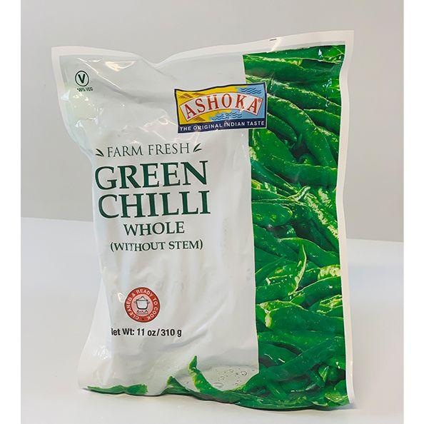 Buy Ashoka Green Chili Whole Without Stem 310gm
