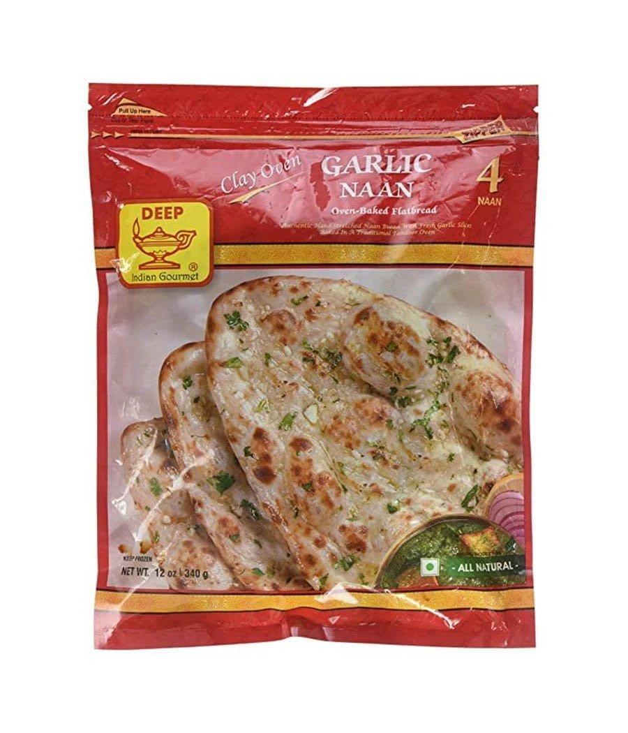 Buy Deep Garlic Naan 4 Piece Online